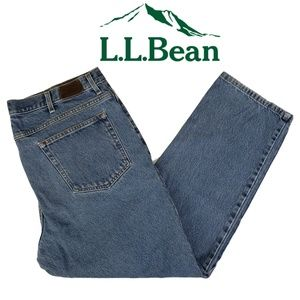 L.L. Bean Men's Classic Fit Blue Jeans 40 x 30